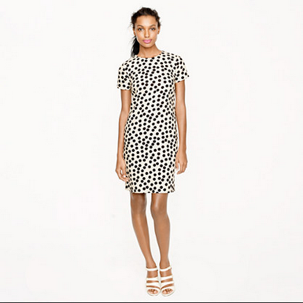 851a831542b7 Closet Remix: J.Crew Scattered/Optic Dot Dress – Blondie, Esquire
