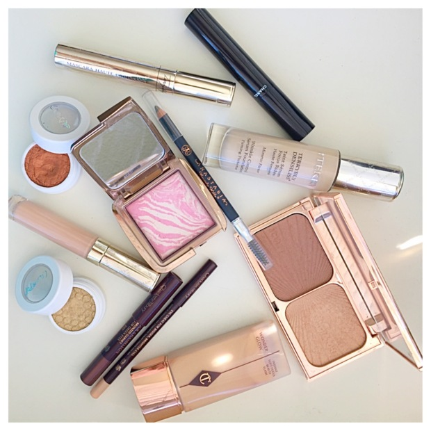 flat lay by terry chanel charlotte tilbury hourglass colour pop anastasia beverly hills