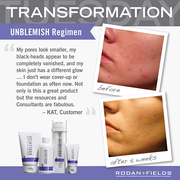 Transformation Unblemish Before + After