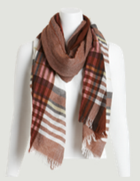 W by Worth Plaid Scarf